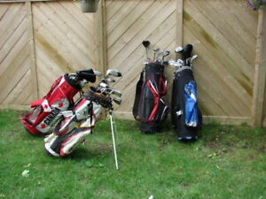 Ladies and Men's RH  golf club sets with golf bag