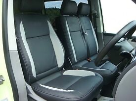 LEATHER SEATCOVERS FOR VOLKSWAGEN TRANSPORTER T3 T4 T5 T6 SHUTTLE ROCK AND ROLL BEDS CUSHIONS VW