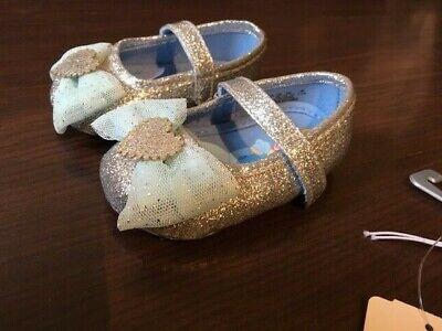 Disney Store Cinderella Princess Baby Costume Shoes Size 0-6 Months  NEW (Disney Baby Cinderella Costume)