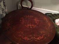 Patterned dining table with 4 matching chairs