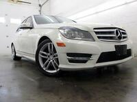 2012 Mercedes-Benz C250 4MATIC NAVIGATION SPORT BLANC 89,000KM