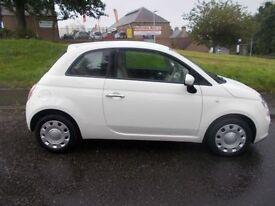 FIAT 500 , White, Manual, Petrol, 2012 (white) 2012