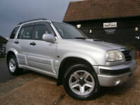 0353 SUZUKI GRAND VITARA 2.0TD TURBO DIESEL 4X4 5DR ESTATE 81K FSMDSH SUPERB.