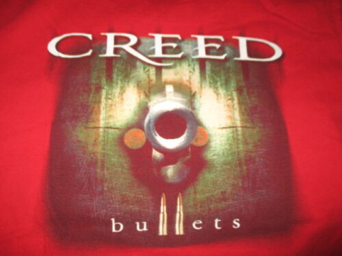 """2003 CREED - WEATHERED - BULLETS"""" Concert Tour (MED) T-Shirt"""