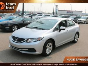 2014 Honda Civic Sedan LX, 1.8L I4, FWD, Clean Carproof, Cloth
