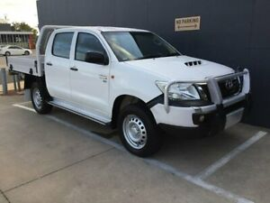 2015 Toyota Hilux KUN26R MY14 SR Double Cab White 5 Speed Manual Cab Chassis Stuart Park Darwin City Preview