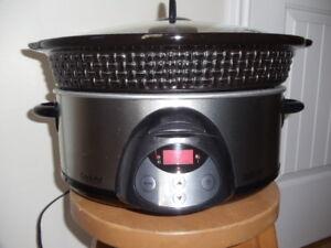 Crock-Pot oval noir 6 Qt - Marque Rival