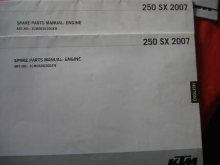 SELECTION of KTM MOTORCYCLE SPARE PARTS MANUALS c2005 -2010 Dianella Stirling Area Preview