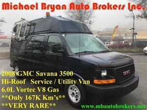 2008 GMC Savana 3500 HI-ROOF SERVICE / UTILITY VAN **VERY RARE**