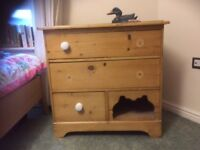 Antique pine chest-of-drawers