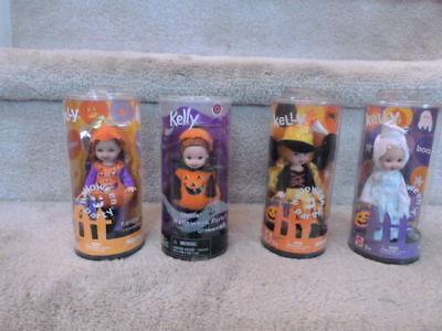 4 Barbie KELLY CLUB DOLLS Halloween Party Nikki Chelsie Kerstie Ghost Witch