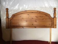 Antique Pine Headboard for King size bed