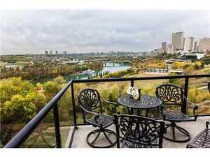 Executive 1 bdrm + den River Valley condo in downtown Edmonton