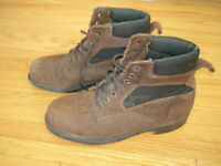 Suede Leather Steel-Toe Work Boots