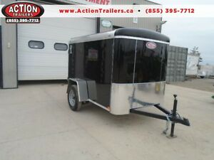 SMALL ENCLOSED CARGO TRAILER - 2016 ATLAS 5X8 - BUILT STRONG London Ontario image 1