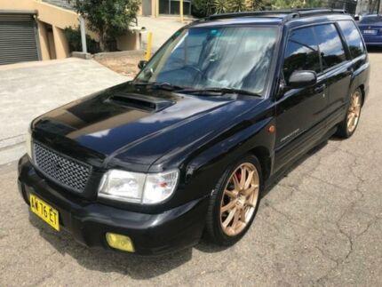 2000 Subaru Forester 79V MY00 GT AWD Black 5 Speed Manual Wagon