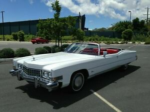 1973 Cadillac Eldorado White Automatic Convertible Arundel Gold Coast City Preview
