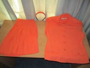 Girl's 2 PC Suit Orange Color with Hair Bend