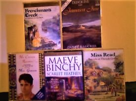 3x DAPHNE DU MAURIER, MAEVE BINCHY 4 TAPE SET, MISS READ TWIN AUDIO BOOKS PRERECORDED CASSETTE TAPES