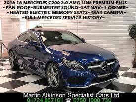 2016 16 Mercedes C-Class C200 2.0 AMG Line Premium Plus Coupe 181BHP 1 OWNER~