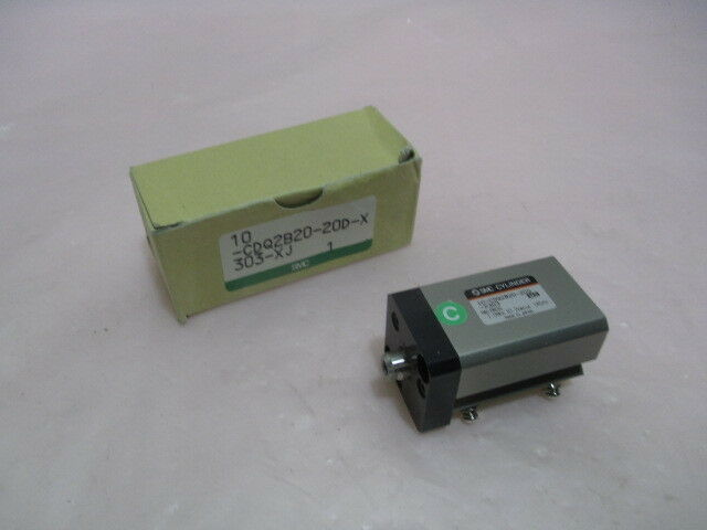 SMC, 10-CDQ2B20-20D-X303, Cylinder, 1.0Mpa, 10.2kgf/cm², 145PSI. 416591