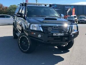 2013 Toyota Hilux KUN26R MY12 SR5 Double Cab Black 4 Speed Automatic Utility Goulburn Goulburn City Preview