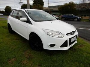 2012 Ford Focus LW Ambiente PwrShift White 6 Speed Sports Automatic Dual Clutch Hatchback Moorabbin Kingston Area Preview