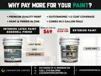 Wholesale Paint - 5 Gallon Pails Interior and Exterior - $69/ea