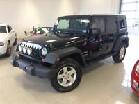 2012 Jeep Wrangler Unlimited SPORT VERT 4X4 UNLIMITED 2 TOITS BL