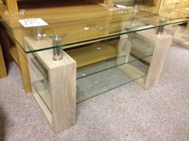 New & boxed Sonoma Milan Glass Lamp Table £39, TV unit £65 IN STOCK NOW get yours today