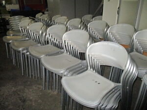 Large Qty of Stacking Chairs-Metal Frame Plastic Seat & Back Peterborough Peterborough Area image 4