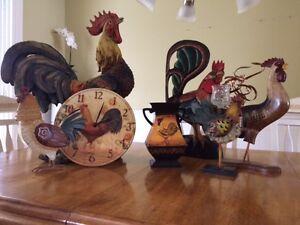 Collection de coqs décoratifs