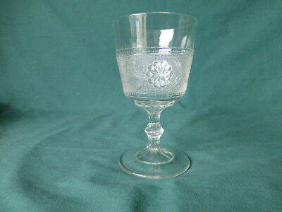 Antique Dahlia Early American Pattern Glass Goblet for sale  Tucson