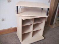 Handy wooden shelves with swivel top - - - £5 - -