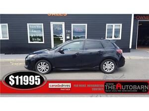 2012 Mazda 3 Sport GS-Sky - Heated Seats, Moonroof - Only 95500k