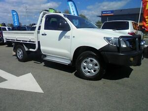 2011 Toyota Hilux KUN26R MY12 SR White 4 Speed Automatic Cab Chassis Welshpool Canning Area Preview