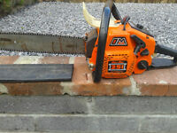 Oleo-mac automatic 251 chainsaw with plastic cover. Old but still works well + in gd cond.£80.00 ono