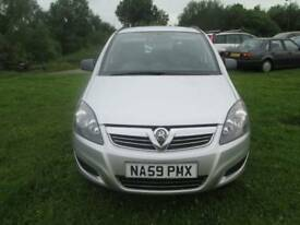 Vauxhall Zafira 1.6 i 16v Life 5dr Good / Bad Credit Car Finance (silver) 2009