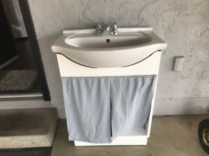 bathroom sink with faucet and vanity