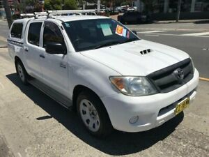 2007 Toyota Hilux KUN16R 07 Upgrade SR White 5 Speed Manual Dual Cab Pick-up Rockdale Rockdale Area Preview