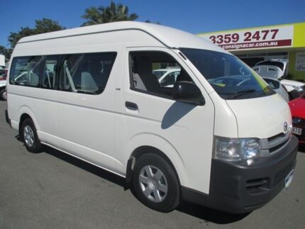 2008 Toyota Hiace KDH223R MY08 Commuter High Roof Super LWB White 5 Speed Manual Bus Kedron Brisbane North East Preview