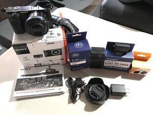 Sony a6000 Camera w/ 16-50mm lens and accessories
