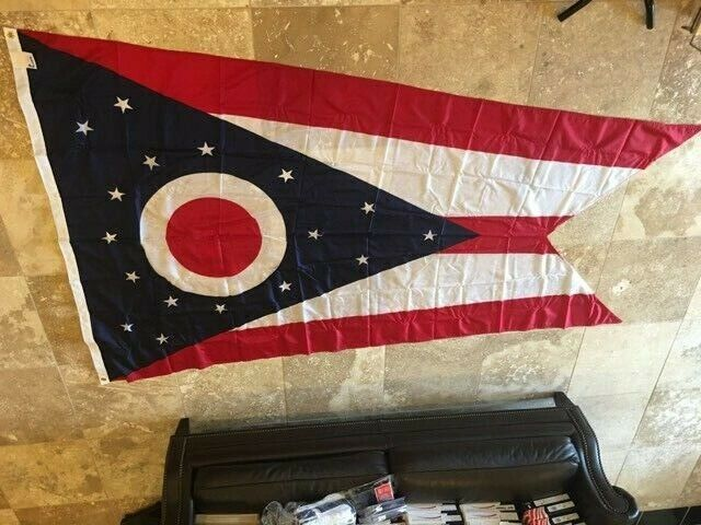 Ohio State Flag 3' x 5' 100% Nylon Annin Flagmakers MADE IN