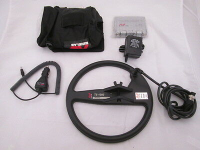 Minelab TS1000 Slimline Coil 12V Battery Pack Cover Pouch Adapter & Car Charger