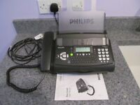 Phillips Magic 3 Fax and Copier Machine VGC c/w instruction manual and all necessary leads
