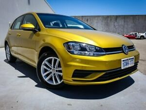 2018 Volkswagen Golf 7.5 MY18 110TSI DSG Yellow 7 Speed Sports Automatic Dual Clutch Hatchback Canning Vale Canning Area Preview