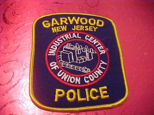 GARWOOD NEW JERSEY POLICE PATCH SHOULDER SIZE UNUSED