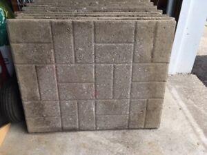 Concrete patio slabs, stones or pavers - Free