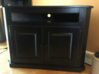 Black, Solid Wood Corner TV Cabinet from Wheatons
