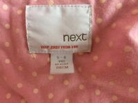 Girls light pink padded jacket by Next